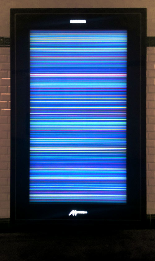 rainbow screen of death